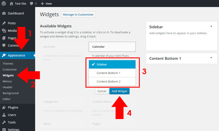 Add-Widget-Selection