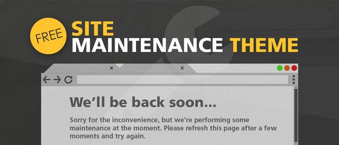 free-maintenance-theme